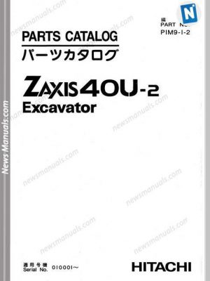 Hitachi Zaxis 40U-2 Excavator Parts Catalog