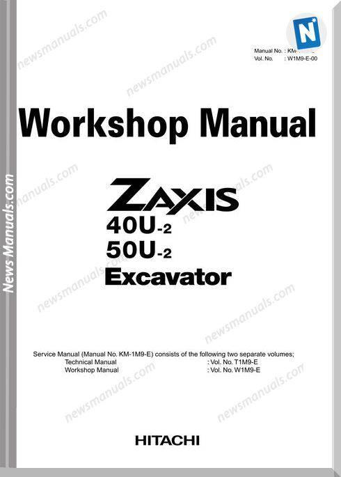 Hitachi Zaxis 40U,50U-2 Workshop Manual