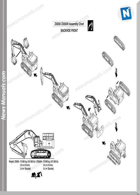 Hitachi Zaxis 800 850H Assembly Procedure Manual
