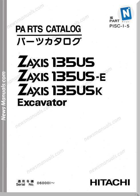 Hitachi Zaxis Excatator Series 135Us 135Us E 135Us K Parts