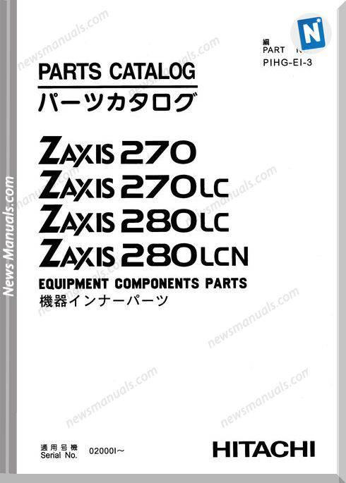 Hitachi Zaxis Zx270 Equipment Components Parts