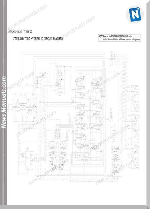 Hitachi Zaxis Zx70,70Lc Hydraulic Wiring Diagram