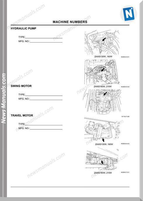 Hitachi Zaxis130W 210W+Emcbb-3-1 Operator Manual