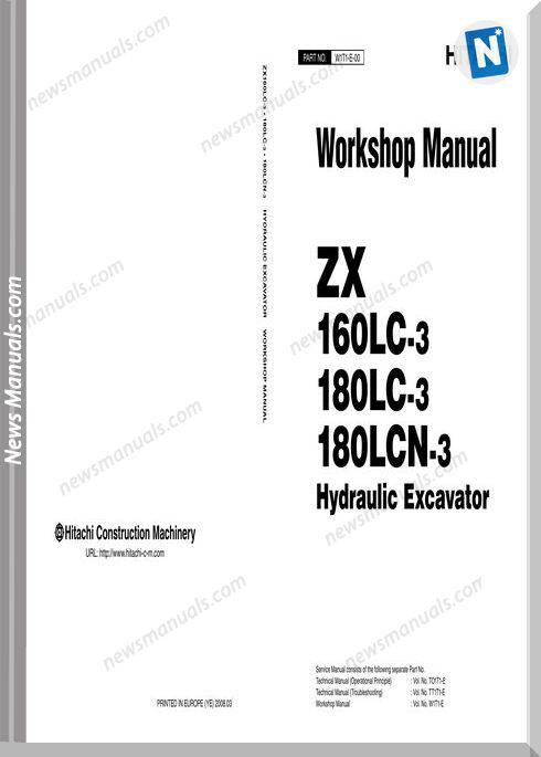 Hitachi Zx160Lc,180Lc,180Lcn-3 Workshop Manual
