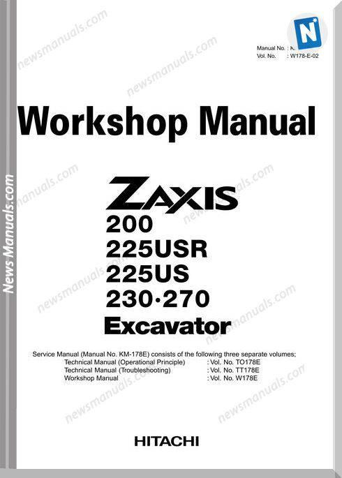 Hitachi Zx200 Workshop Manual