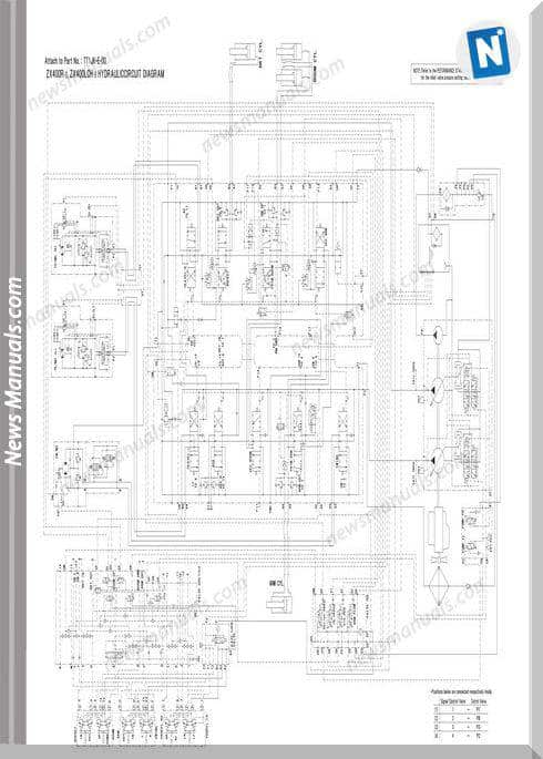 Hitachi Zx400 Hydraulic Excavator Hydraulic Circuit