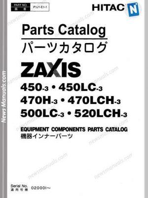 Hitachi Zx450-3 Zx470-3 Zx500-3 Zx520-3 Parts Catalog