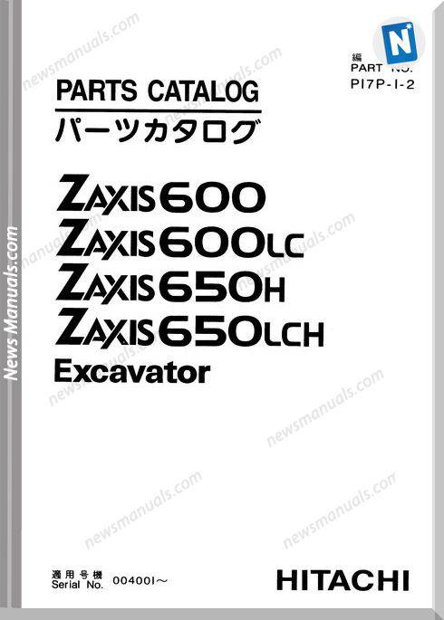Hitachi Zx600 Zx650 Set Parts Catalog