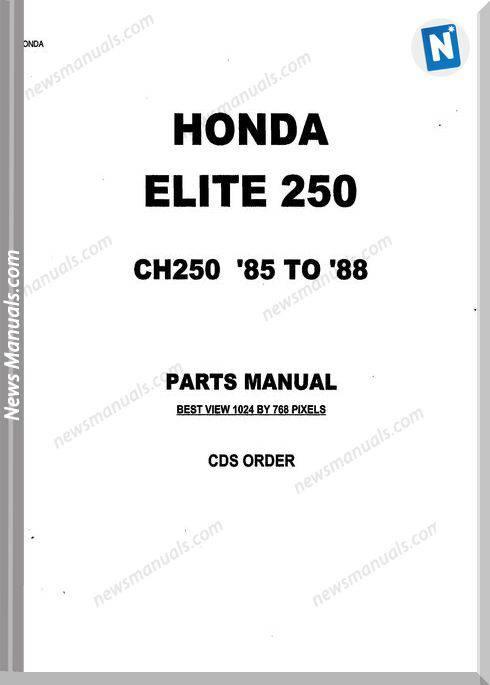 Honda Ch250 Parts Manual 1985 1988