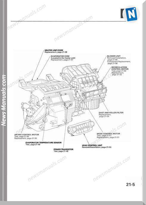 Honda Cr V 2007 2009 Heating Repair Manual