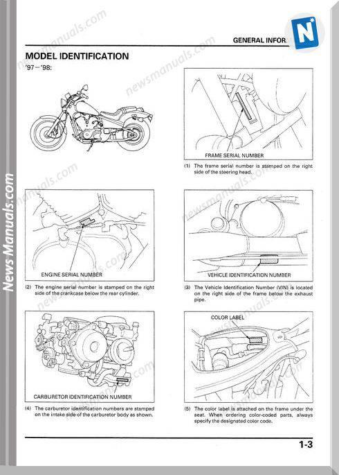 Honda Vt600C Vt600Cd 97 01 Service Manual