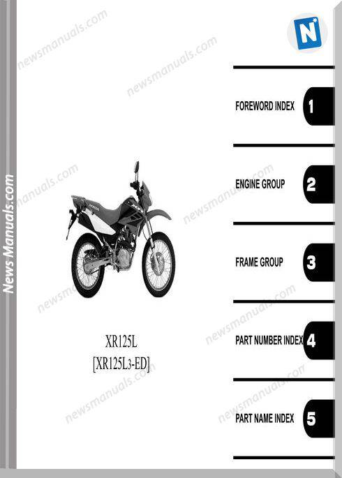 Honda Xr125L Part Catalog 2011