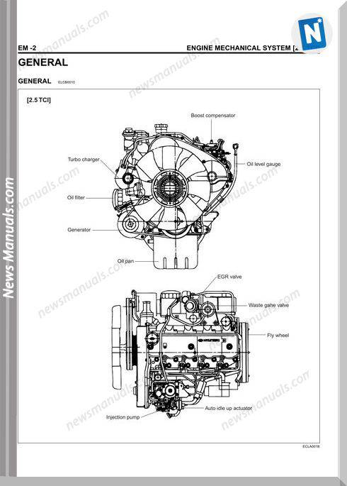 Hyundai D4Bh Workshop Manual