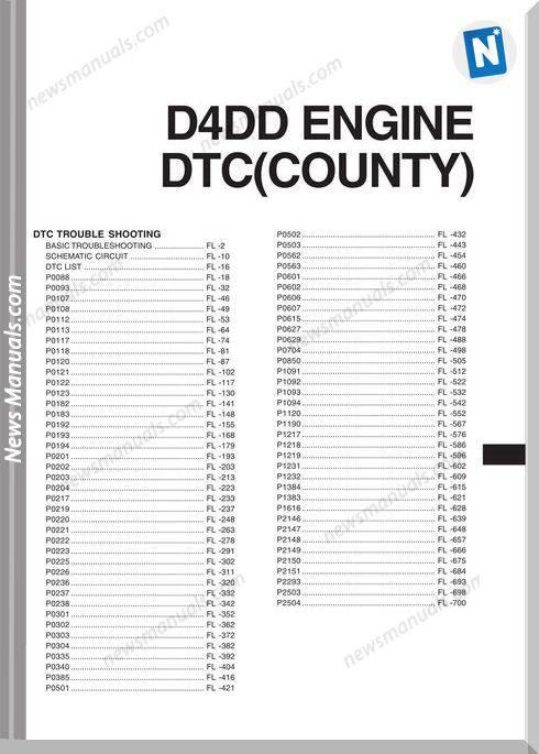Hyundai D4Dd Dtc County Enbs Eg77D Shop Manual
