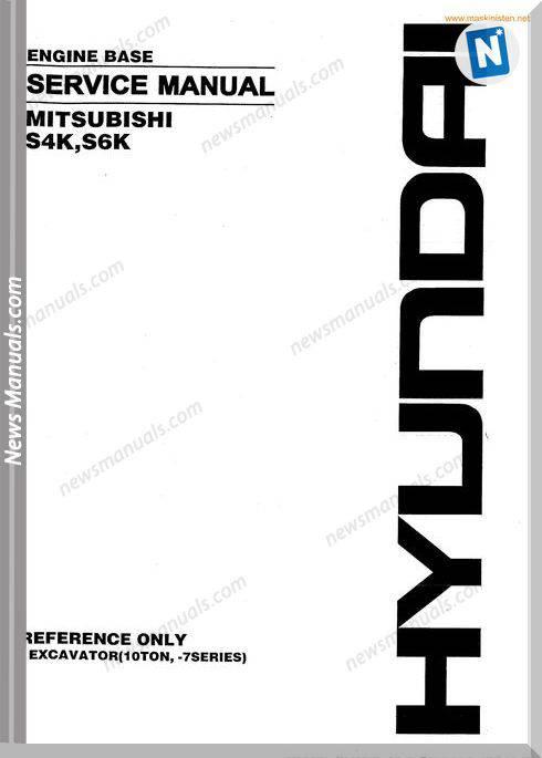 Hyundai Forklift Mitsubishi S4K S6K Service Sec Wat