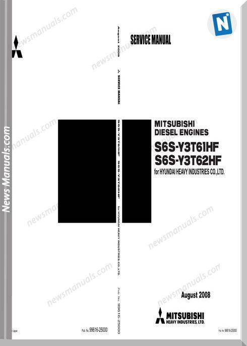 Hyundai Mitsubishi S6S Service Manuals