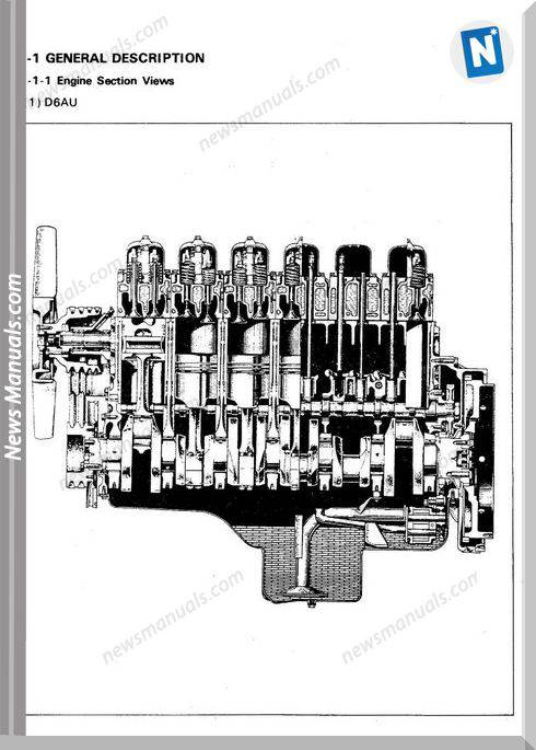 Hyundai Model D6A Shop Manual