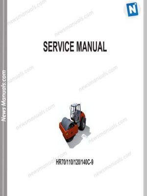 Hyundai Road Roller Hr70 110 120 140C 9 Repair Manual