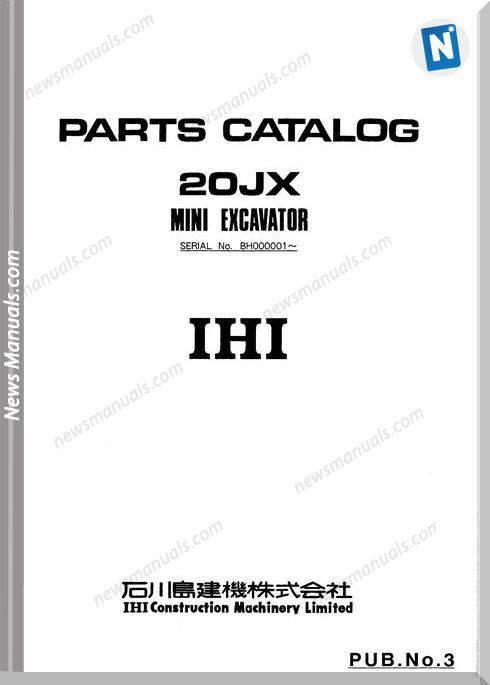 Ihi Mini Excavator 20Jx Parts Catalog