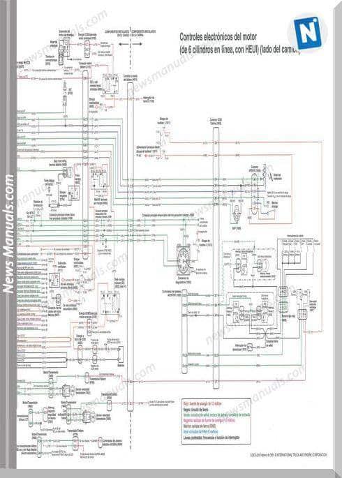 International Dt466 Dt530 Electronic Diagram