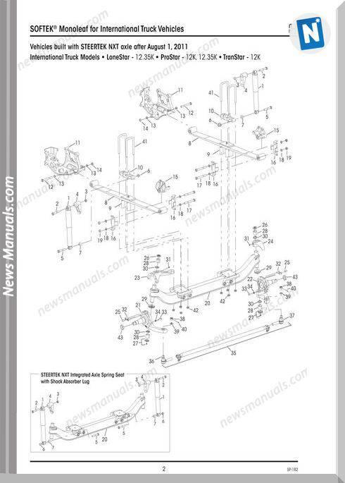 International Vehicles Sp182D Hendrickson Softek Parts