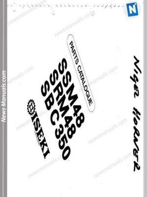 Iseki Model Ssm48 Srm48 Sbc350 Parts Catalogue Manuals