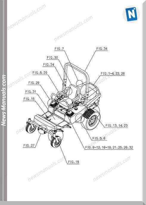 Iseki Model Sz330 Parts Catalogue Manuals