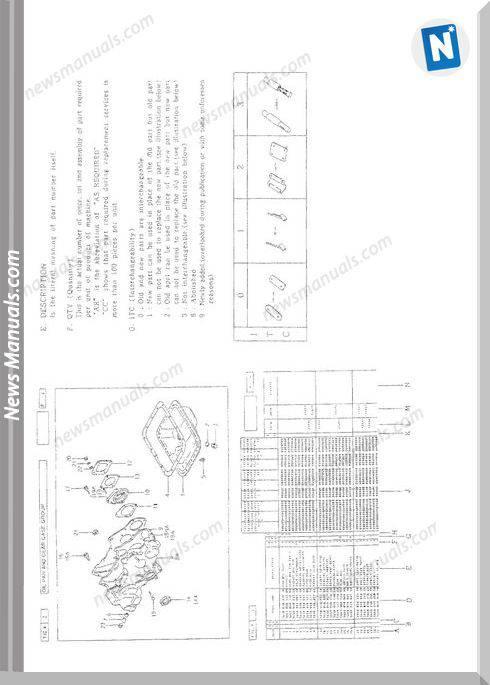 Iseki Model Te4270 Parts Catalogue Manuals