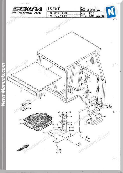 Iseki Model Tu318 2 Parts Catalogue Manuals