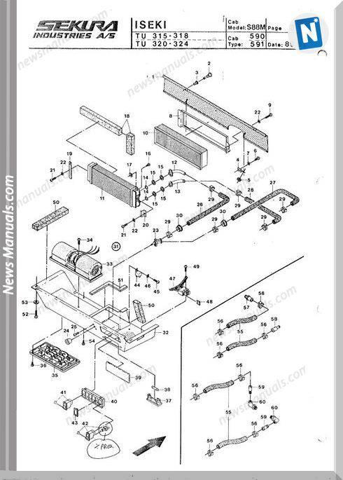 Iseki Model Tu318 2 Parts Catalogue Manuals