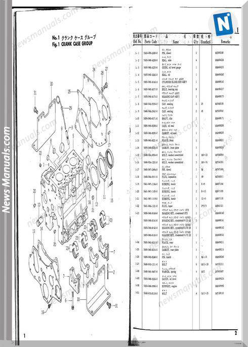 Iseki Model Tx1410 Parts Catalogue Manuals