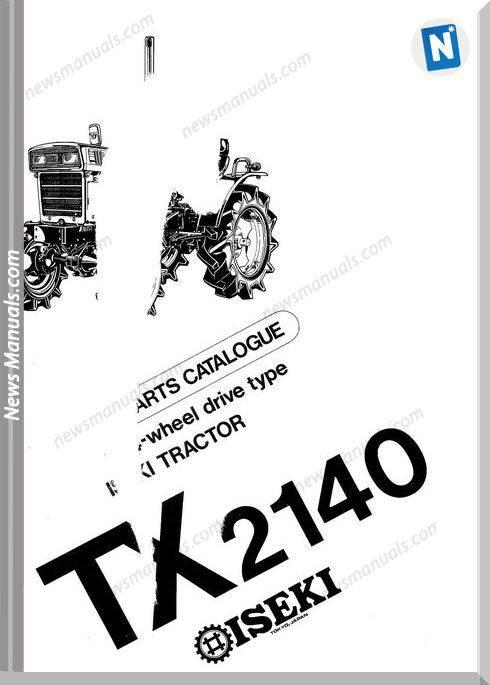 Iseki Model Tx2140 Parts Catalogue Manuals
