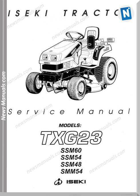 Iseki Txg23 Models Service Manual