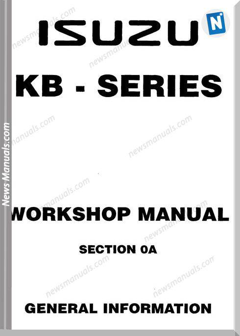 Isuzu 1993-1996 Kb Tf140 Models Workshop Manual