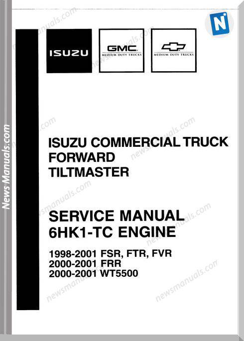 Isuzu 6Hk1-Tc Engine 1998 To 2001 Service Manual