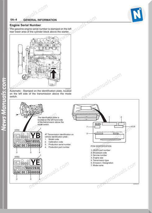 Isuzu Axiom 2002 Workshop Manual