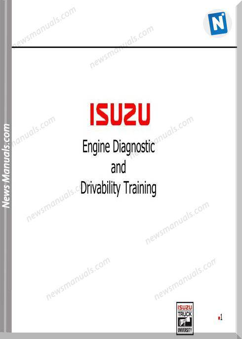 Isuzu Engine 4Hk1-6Hk1 Diagnostic Drivability Training