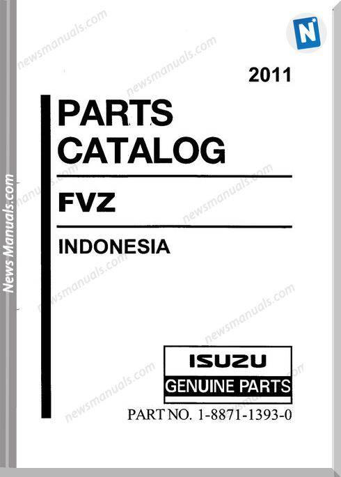 Isuzu Fvz Engine 6Hk1-Tcs 2011 Models Parts Catalog