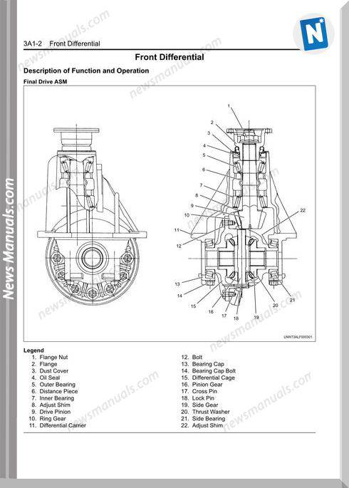 Isuzu N Series Drivelineaxle 2008-2009 Workshop Manual