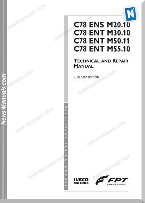Iveco C078Ensm20 C078Entm30-50 P3D32C001E Repair Manual