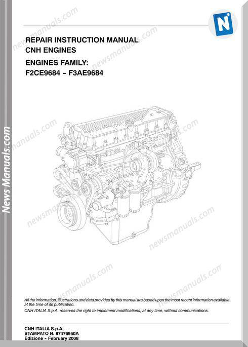 Iveco Cnh Engines Repair Instruction Manual