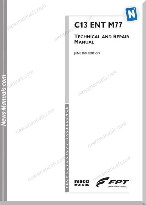 Iveco Engines C13Entm77 Technical And Repair Manual
