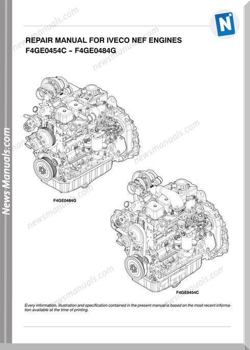 Iveco Nef Engine F4Ge0454C F4Ge0484G Repair Manual