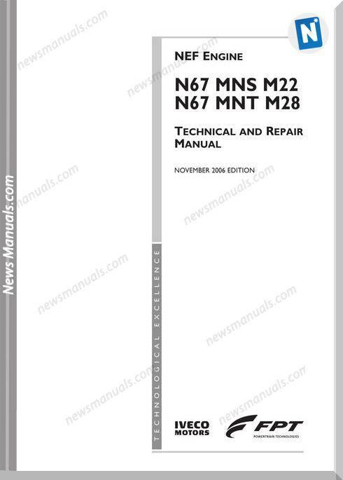 Iveco Nef Engines M67 Mns M22 M67 Mnt M28 Repair Manual
