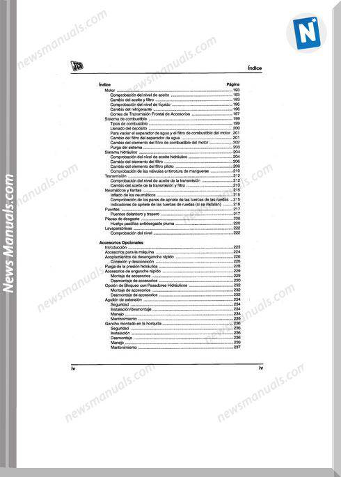 Jcb Telehandler 535-125 Es Shop Manual