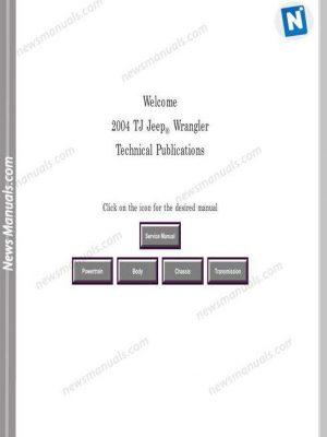 Jeep Wrangler 2004 Repair Manual