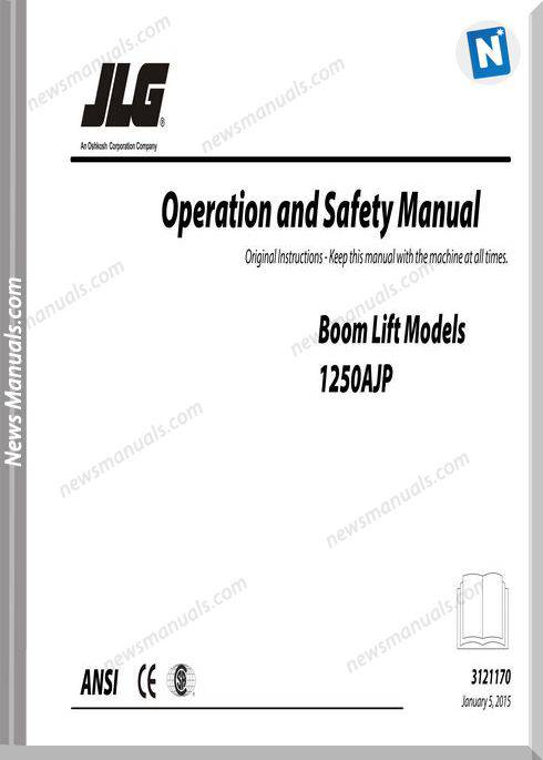 Jlg 1250Ajp Boom Lift Operation And Safety Manual