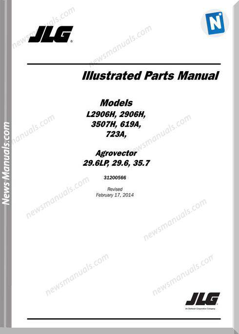 Jlg 3507H Telehandler Parts Manual