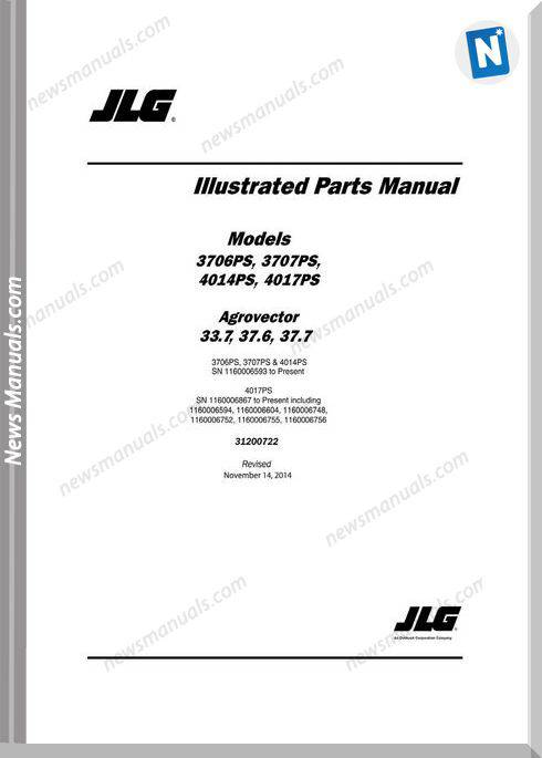 Jlg 3706Ps 3707Ps 4014Ps 4017Ps Telehandler Part Manual