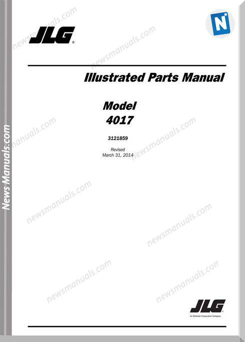 Jlg 4017 Telehandler Parts Manual